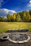 De herfst in het platteland Stock Fotografie