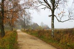 De herfst in het platteland Stock Afbeelding