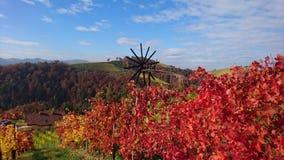 De herfst in het zuiden van Oostenrijk Royalty-vrije Stock Foto