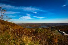 De herfst in Hudson Valey stock foto
