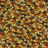 De herfst huisvest naadloos patroon Stock Foto