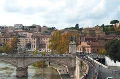 De herfst in Italië Straten van Rome Oude Stad Architectuur, royalty-vrije stock foto