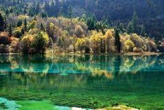 De herfst in Jiuzhaigou Royalty-vrije Stock Foto