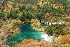 De herfst in Jiuzhaigou Royalty-vrije Stock Fotografie