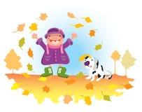 De herfst kan pret zijn. stock foto's