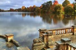 De herfst in Kasteel Hever Royalty-vrije Stock Fotografie