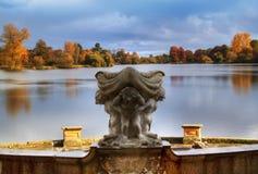 De herfst in Kasteel Hever Royalty-vrije Stock Afbeeldingen