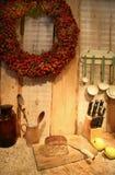 De herfst in keuken Stock Afbeelding