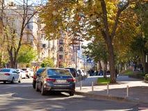 De herfst in Kiyv Districtsgolden gate Nice en comfortabele lokation Ontspan enkel! stock afbeelding