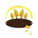 De herfst kleurrijk embleem met bomen Stock Afbeelding