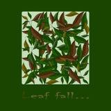 De herfst kleurrijke achtergrond, gevallen bladeren, bladdaling stock afbeeldingen