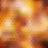 De herfst kleurrijke die achtergrond van driehoeken wordt gemaakt. Stock Foto's