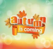 De herfst komt Stock Foto