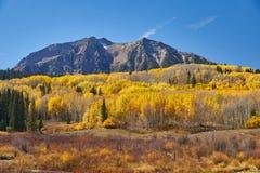 De herfst langs Pas Kebler stock fotografie