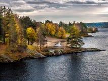 De herfst in Lapland Stock Afbeelding