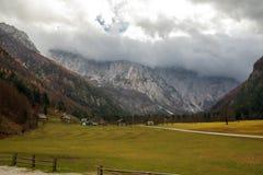 De herfst in Logar-Vallei Royalty-vrije Stock Fotografie