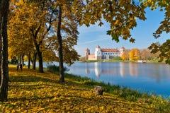 De herfst in Mir Stock Foto's