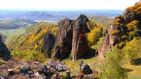 De herfst in Mongolië royalty-vrije stock fotografie