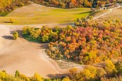 De herfst in Montefeltro stock fotografie