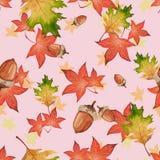 De herfst naadloos patroon in vector Stock Foto