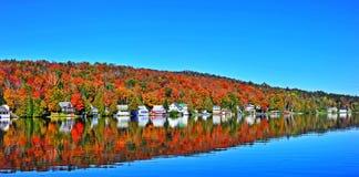 De herfst in Ne Vermont HDR Stock Afbeelding