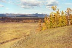 De herfst op Baikal Royalty-vrije Stock Afbeelding