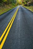 De herfst op Blauw Ridge Parkway Roadway, Virginia, de V.S. royalty-vrije stock afbeeldingen