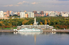 De herfst op de Moskou-Rivier Stock Afbeelding