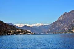 De herfst op het Iseo-meer, van Verkoop Marasino Royalty-vrije Stock Fotografie