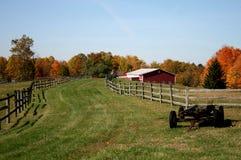 De herfst op het Landbouwbedrijf royalty-vrije stock afbeelding