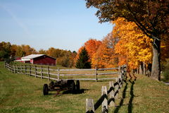 De herfst op het Landbouwbedrijf royalty-vrije stock foto