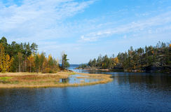 De herfst op Ladoga Royalty-vrije Stock Fotografie