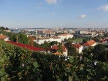 De herfst in Praag Stock Foto