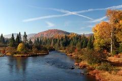 De herfst in Quebec stock fotografie