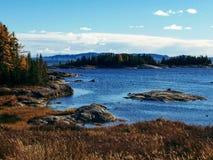 De herfst in Quebec, Canada stock fotografie
