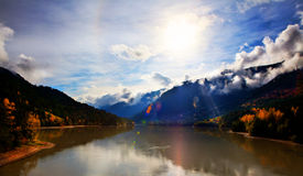 De herfst in Rockies royalty-vrije stock foto's