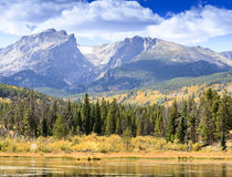 De herfst in Rocky Mountain National Park Stock Foto's
