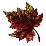 De herfst rood blad Stock Foto's