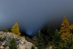 De herfst in Rosengarten - Dolomiet Royalty-vrije Stock Foto
