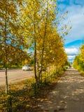 De herfst in de Russische stad royalty-vrije stock afbeeldingen