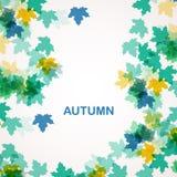 De herfst seizoengebonden achtergrond Royalty-vrije Stock Afbeeldingen