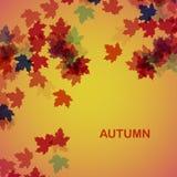 De herfst seizoengebonden achtergrond Stock Foto