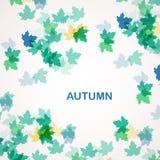 De herfst seizoengebonden achtergrond Stock Afbeelding