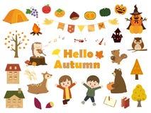 De herfst set2 stock illustratie