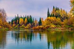 De herfst in Siberië royalty-vrije stock foto's