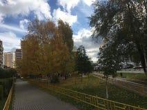 De herfst in de stad Royalty-vrije Stock Foto's