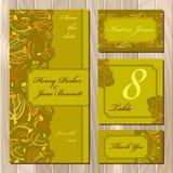 De herfst tansy takjes De reeks van de huwelijkskaart Voor het drukken geschikte Vectorillustratie Stock Afbeeldingen