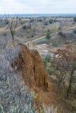 De herfst in de Tavri-steppe Stock Foto's