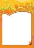 De herfst theme2 van de kalender vector illustratie
