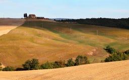 De herfst in Toscanië Stock Foto's